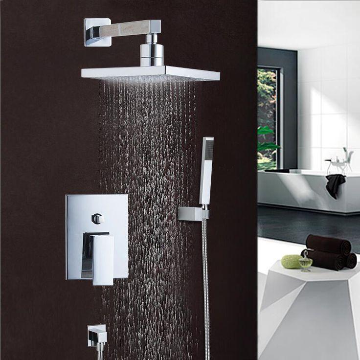 best shower faucet sets. New Polish Chrome Bathtub Shower Set Mixer Faucet 8 Rain Head with  Handheld shower Faucets 9 best Tap images on Pinterest Bathroom showers