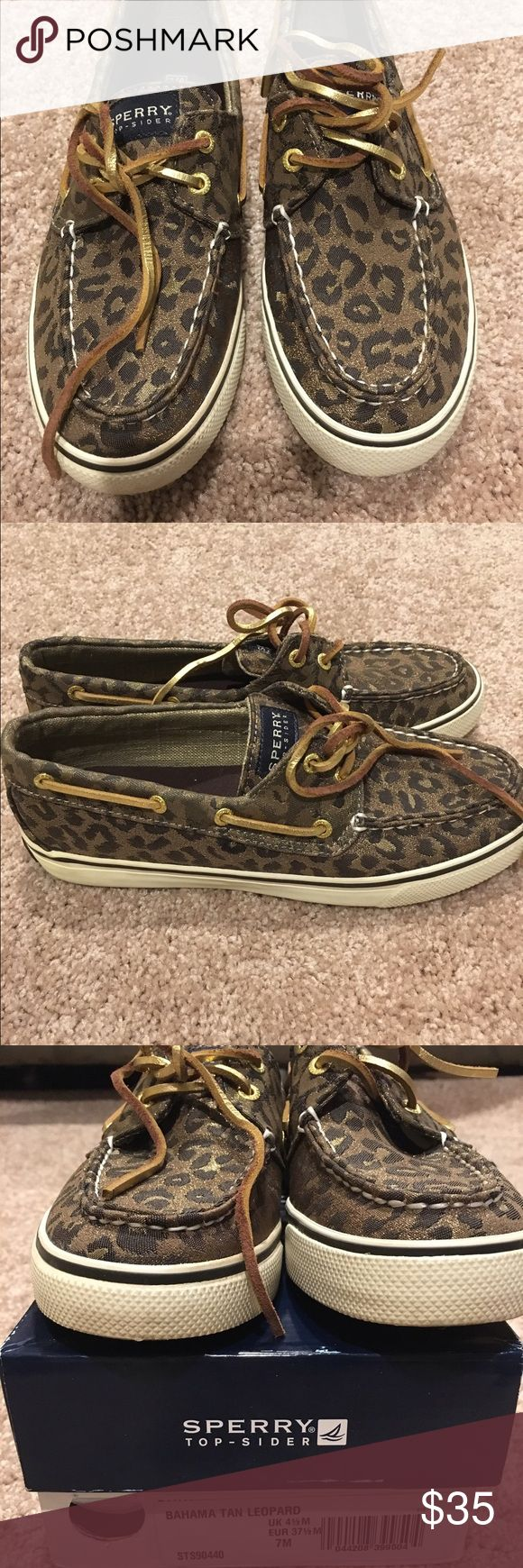 Bahama tan leopard sperry Size 7 Sperry Top-Sider Shoes