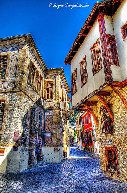Streets at Old Town of Xanthi (Xanthi/Greece)