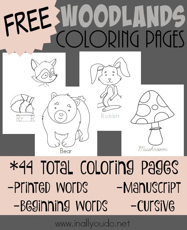 Woodlands Coloring Pages | In All You Do | Coloring pages ...