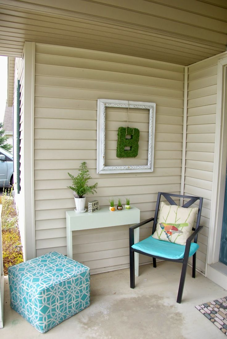 Revamping The Front Porch Diy Wall Summer Porch And
