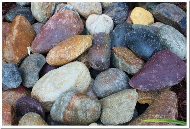 "How to give your landscaping River Rocks a ""wet look"" that lasts all summer!"