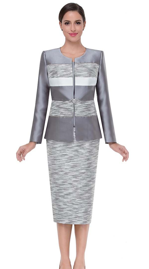 Serafina 3807 Silver Womens Suits Spring 2018 African Styles