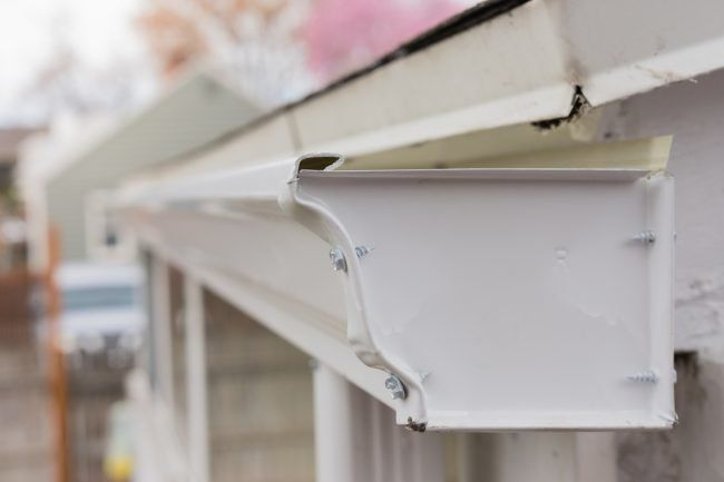 Solved How To Fix Leaking Rain Gutters In 2020 Gutters Rain Gutters Cleaning Gutters