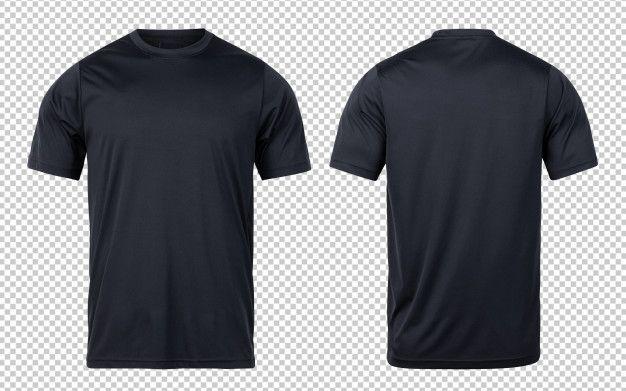 Download Black Sport T Shirts Front And Back Mock Up Template For Your Design Plain Black T Shirt Shirts T Shirt Design Template