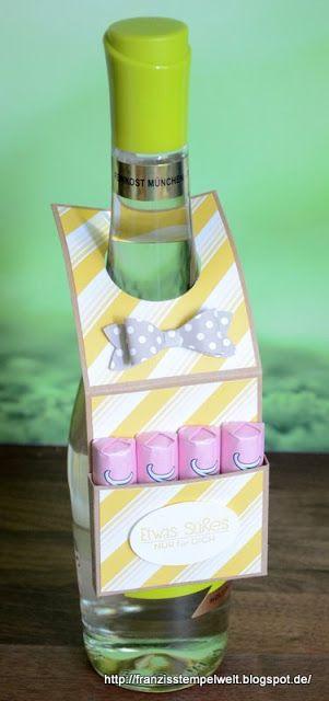 Franzis Stempelwelt: Puh ist das heiß ... Stampin Up Flaschenanhänger Geschenk