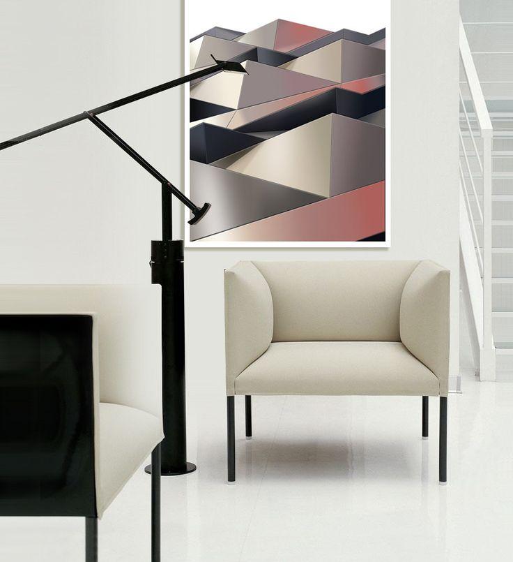 Scandinavian wall art Geometric Poster Abstract by JAnoveltyDeSign