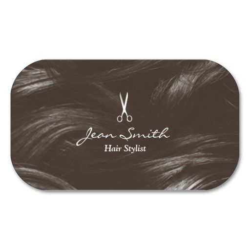 Professional Tan Hair Stylist Business Cards