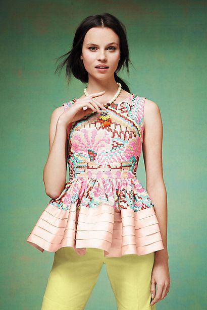 pretty peplum #anthropologie #tenun ikat