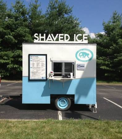 Making a shaved ice wagon snow cone machine cart