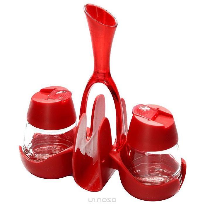 Набор Renga: солонка, перечница, салфетница и емкость для зубочисток