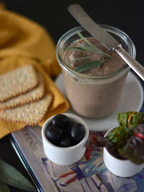 Chicken liver pate with sage and irish whiskey