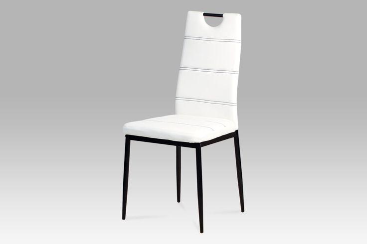 AC-1220 WT Jídelní židle postavená na kovové konstrukci upravené černým lakem s praktickým madlem pro snadnou manipulaci. Příjemně polstrovaný sedák i opěrák jsou prošité kontrastní nití. Designově nekomplikovaná židle, jež se díky svému neotřelému a působivému vzhledu výborně hodí jako doplněk do moderních kuchyní či jídelen. Navíc díky použitým materiálům je údržba této jídelní židle rychlou a bezproblémovou záležitostí. Nosnost této židle je do 100 kg.