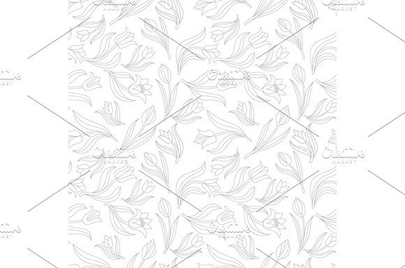 Seamless floral pattern vector tulip by Rommeo79 on @creativemarket