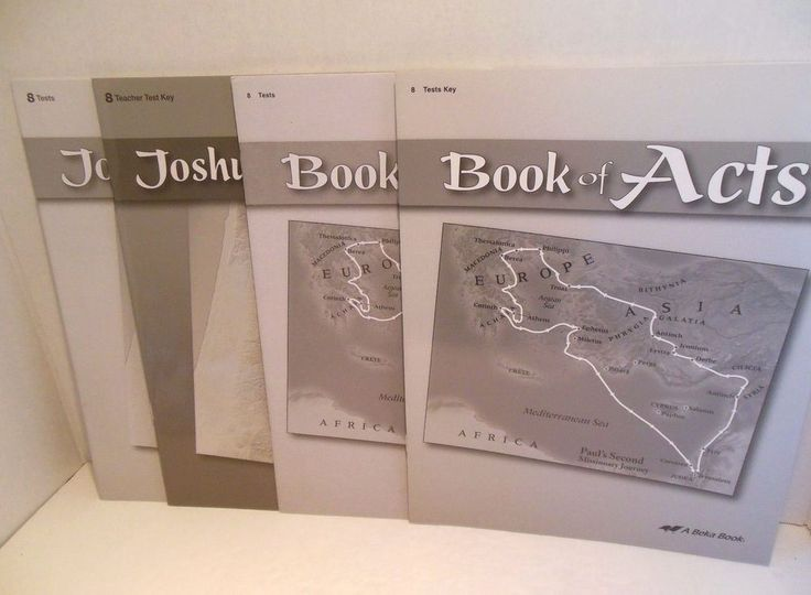 A Beka Book of Acts AND Joshua Tests Teacher Key Grade 8 Christian Homeschooling