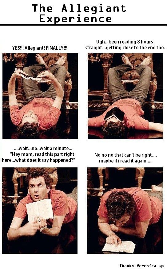 this was totally me reading Allegiant. Except I didn't show it to my mom because I had waterfalls falling down my cheeks.