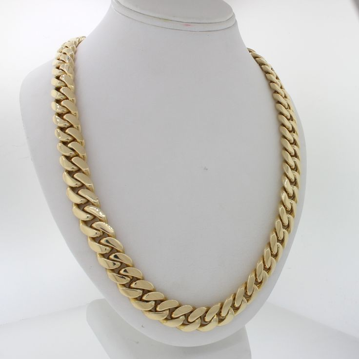 "This is a beautiful Modern Men's Heavy 14k Solid Yellow Gold 31"" inches Cuban Link Chain 403.6g. This chain will come in a lovely jewelry box for a perfect presentation and our unconditional 30 day mo"