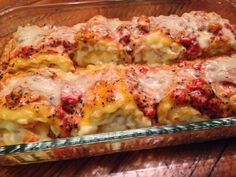 Shrimp Lasagna Roll Ups
