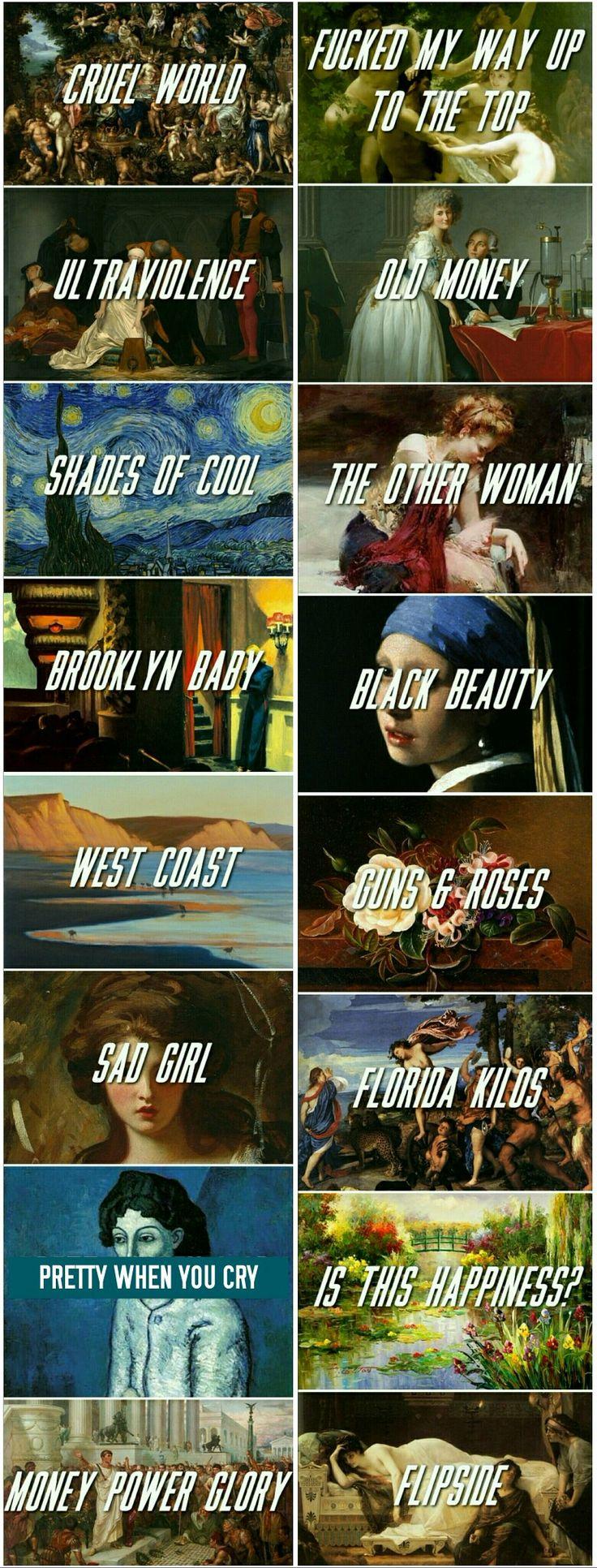 Lana Del Rey's Ultraviolence album + paintings #LDR #art #songs