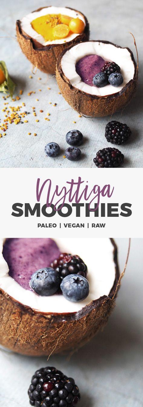 Recept: Nyttiga smoothiebowls. Acai och gurkmeja. Mejerifritt / Raw / Vegan