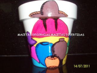 MACETAS DECORADAS MACETAS DIVERTIDAS