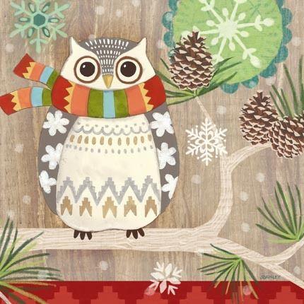 Woodland Owl Wood by Jennifer Brinley | Ruth Levison Design