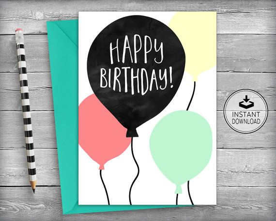 Birthday Card | Happy Birthday Card | Printable Card | Instant Download | DIY Greeting Card | Friend Birthday Card | Best Friend Birthday Card | Friendship Card | Friend Birthday | Wife Birthday Card | Fiance Birthday Card | Mother Birthday Card | Husband Birthday Card | Sister Birthday Card