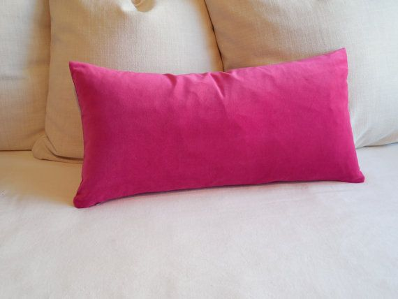 Fuschia Velvet Throw Pillows : FUSCHIA luxury cotton velvet bolster pillow 13x26 regan s room make-over Pinterest Shops ...