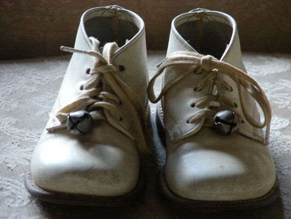 Vintage Baby Shoes Bells Awe Remember