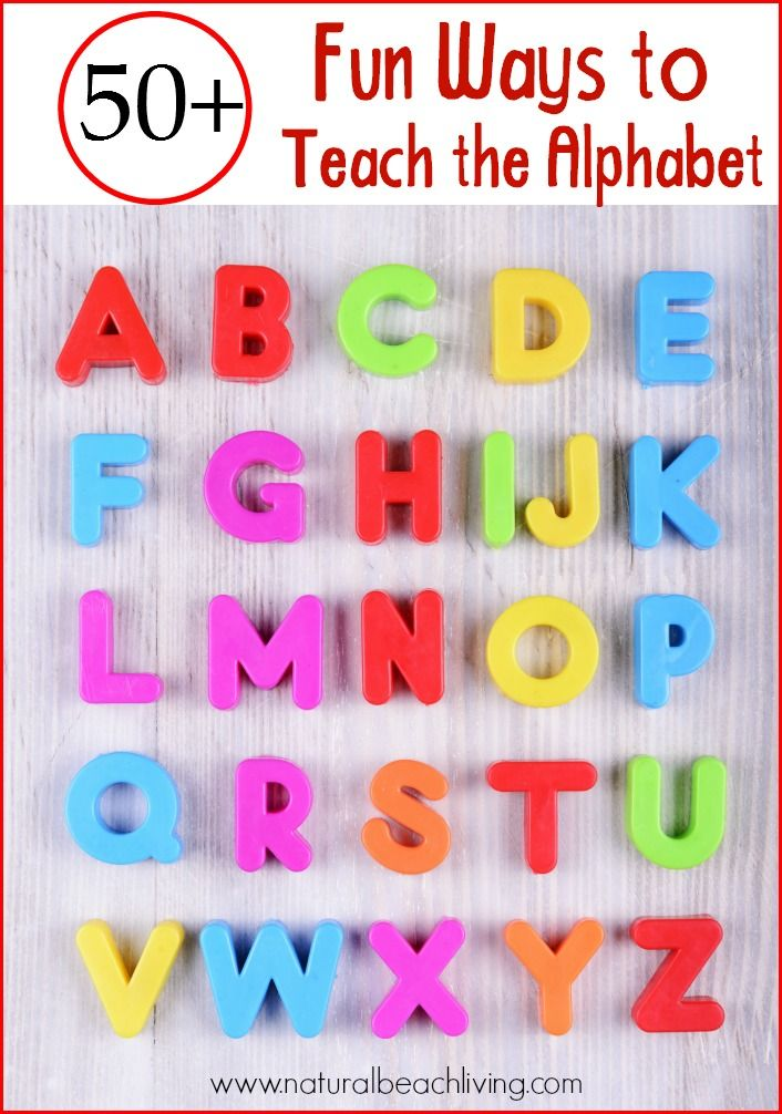 50+ Fun Ways to Teach the Alphabet with Games, Hands on learning, books, crafts, Sensory Play, Free Printables, Tips and ideas on How to Teach the Alphabet