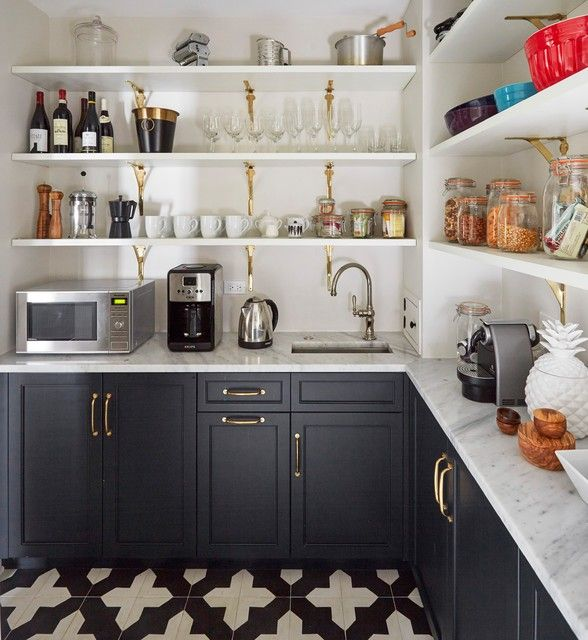 Butler S Pantry The Walk In Pantry Is 56 Square Feet About 5 Square Meters Zaveloff Used A Graphic Pantry Renovation Kitchen Cabinet Remodel Pantry Design