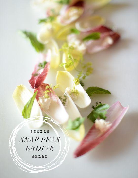 Snap Peas Endive Salad | endive salads | Pinterest