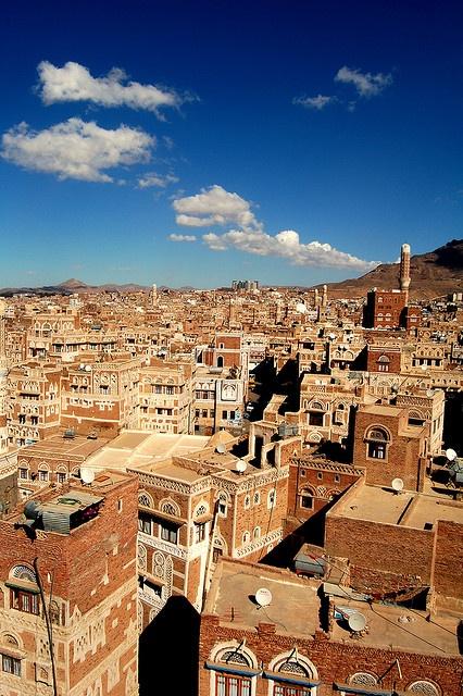 The beautiful Old City of #Sana'a, #Yemen