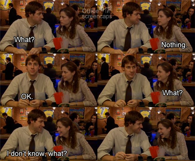 The Dundies - Jim and Pam - The Office Pretty much how our drunken conversations go. Or even some of our sober ones.