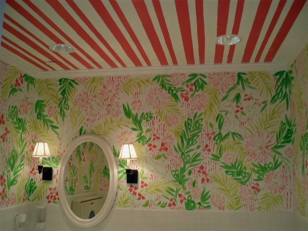 great powder room...: Lilly Pulitzer, Dream Bathrooms, Closets Bathrooms, Ceiling, Girl Bathrooms, Future Bathrooms, Pulitzer Powder, Pink, Powder Rooms