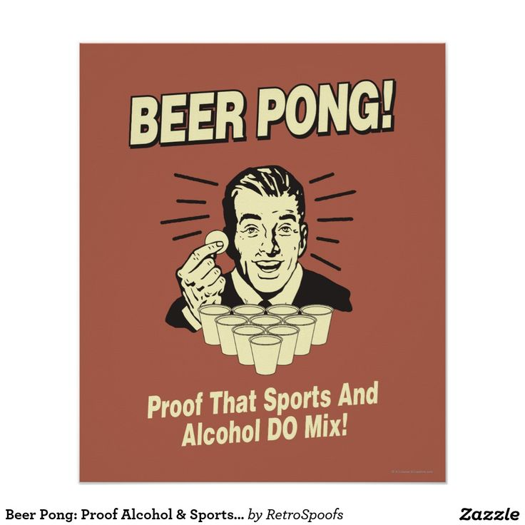Beer Pong: Proof Alcohol & Sports Mix Poster