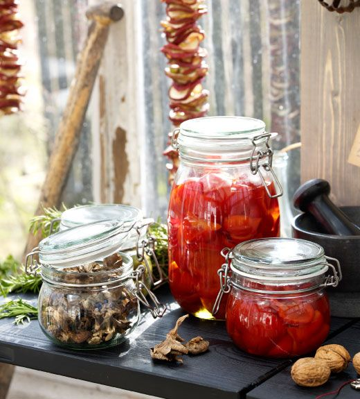 KORKEN glass jars comes in three different sizes to store the taste of the fall season.