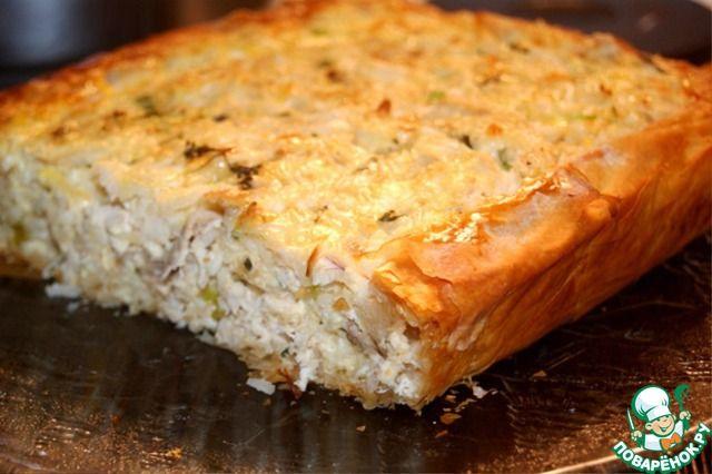 Греческий деревенский пирог с курицей ингредиенты