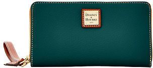 Dooney & Bourke Pebble Grain Large Zip Around Wristlet Wallet