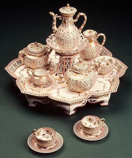 1855-1861 French Sèvres Coffee and Tea Service at the Metropolitan Museum of Art, New York - Isn't this just stunning???