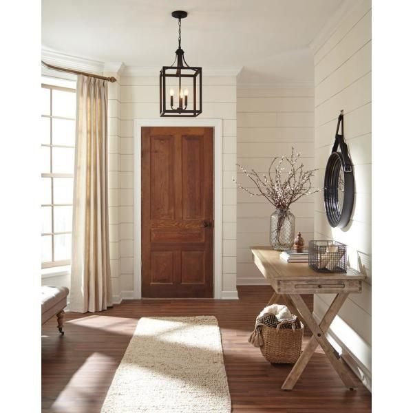 Sea Gull Lighting Labette 3 Light Black Hall Foyer Pendant 5140603