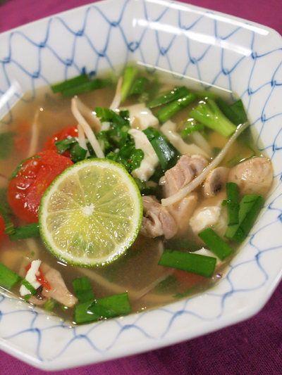 「夏野菜とお豆腐のエスニックスープ」のレシピ by オリエンタルママさん | 料理レシピブログサイト タベラッテ