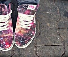 "Galaxy shoes ♥ this is really cool :"") i hope i can get it in indonesia~"