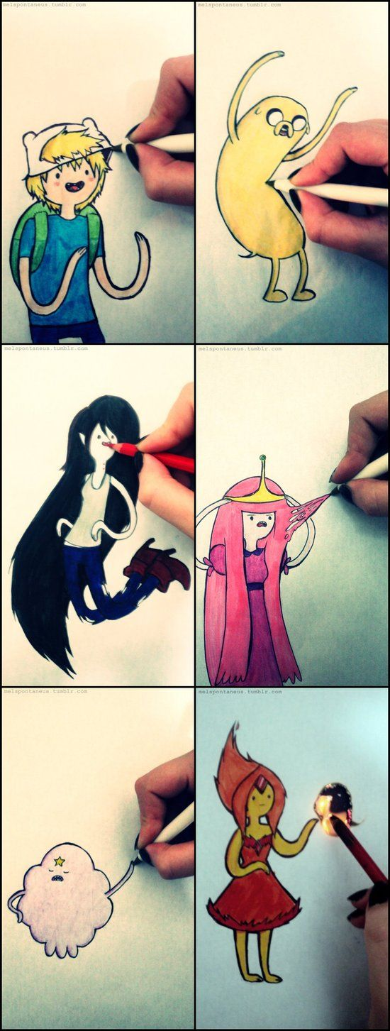 Playing with Adventure Time characters by MelSpontaneus on DeviantArt
