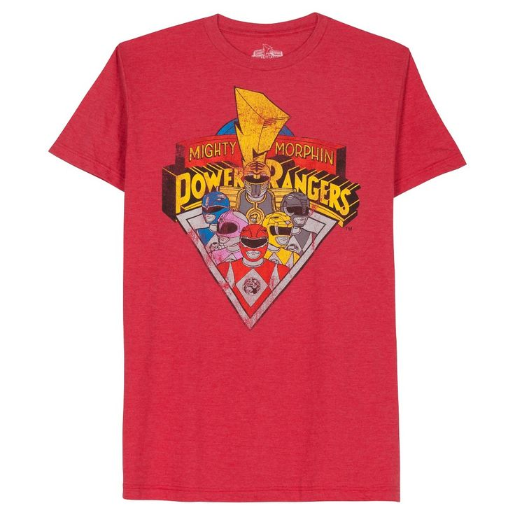 Men's Power Rangers T-Shirt Red