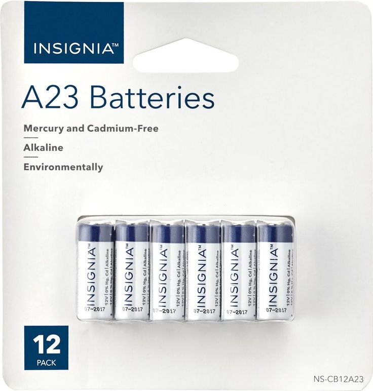 Insignia™ - A23 Battery (12-pack) - White/Blue