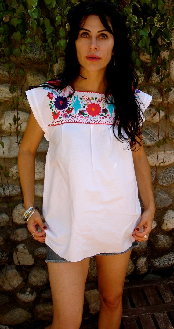 so pretty. love the sleeve shape. embroidery. something like this