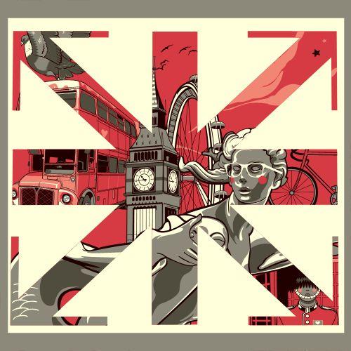 London Pop Connection by Vincent Rhafael Aseo, via Behance: Cut Outs Ideas, Illustration