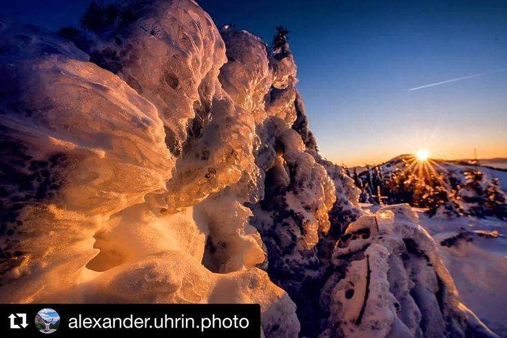 Tatranská ľadová rozprávka  #praveslovenske  od @alexander.uhrin.photo #slovensko #slovakia #mountains #clouds #nature #hiking #landscape #sunset #sunrise #ice #frozen #trees #hills #sky #winter #snow #frozen