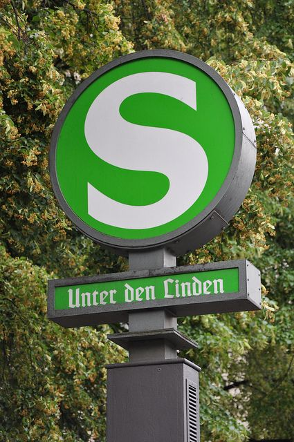Berlin, Germany - Unter den Linden, S-Bahn station